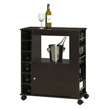 Ontario Modern and Contemporary Wood Dry Bar and Wine Cabinet- Dark Brown New