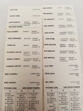 1973 Strat-o-matic Baseball San Diego Padres 23 Player Cards Clean Duplicates