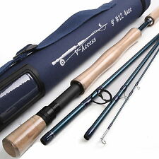 12WT Fly Rod 9FT 4PCS Fast Action Fly Fishing Rod (IM10) With Cordura Rod Tube