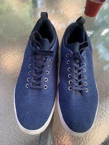 Men's Steve Madden Navy Blue Flyknit Shoes Size 11.5