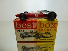 BEST BOX 2517 FERRARI FORMULE 1 3L - RED L6.5cm - EXCELLENT CONDITION IN BOX