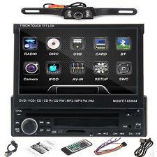 "7"" HD Single 1Din Auto Car DVD Player Stereo USB/SD BT RDS Radio+Parking Camera"