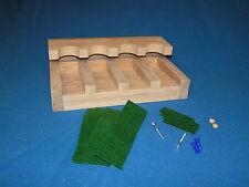 4 gun - wood closet gun rack with floor rest - Solid Oak