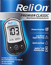 NEW IN BOX RELION PREMIER CLASSIC BLOOD GLUCOSE MONITORING SYSTEM FREE SHIPPING!