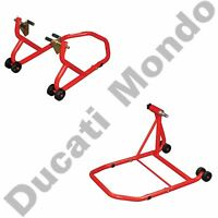 Front rear paddock stand set Ducati 1098 1198 1199 1299 Panigale V4 MTS 1200 SS