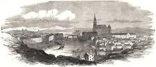 Turku, from an original sketch. Finland, antique print, 1854