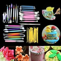 Fondant Cake Decorating Sugarcraft Paste Pen Flower Modelling Tools Set Kit