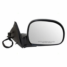 NEW RH POWER DOOR MIRROR GLOSS BLACK FOR 98-00 S10 BLAZER ENVOY GMC S1 GM1321185
