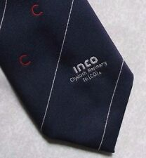 CLYDACH REFINERY TIE INCO VINTAGE RETRO MINING WALES WELCH NAVY 1980s 1990s