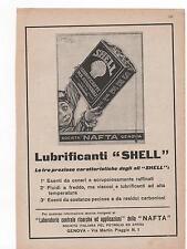 Pubblicità vintage SHELL LUBRIFICANTE AUTO GENOVA old advert werbung publicitèB8