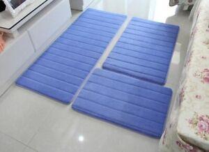 Modern Floor Anti-Slip Rugs For Bathroom Toilet Memory Foam Mat 3Pcs/set Carpet
