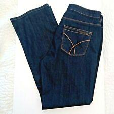 Calvin Klein Mid Rise Jeans Shape Women's Size 14 Dark Wash 32 inch Inseam