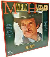 Merle Haggard -- His Best -- LP 33⅓ -- MCA-5573  R-131604  (1985)