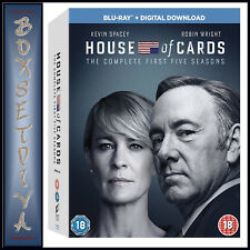 HOUSE OF CARDS - COMPLETE SEASONS 1 2 3 4 & 5 *BRAND NEW BLU-RAY REGION FREE
