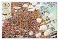 "Greenwich Village - New York City Street Manhattan Map circa 1920 - 24"" x 36"""