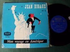 """JEAN RIGAUX no 6, Mon voyage en Amérique 10"""" 25 cm LP DECCA 133.788 JAN MARA"""