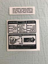 Honda ATC185 Gas TAnk Warning Decal for fenders  1980 80 185S ATC185s