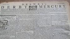 Drewerys Derby Mercury Newspaper Feb 1780 - John Paul Jones - Rev War News
