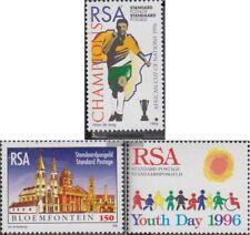 Sudáfrica 991,992,1003 (completa.edición.) usado 1996 fútbol, Bloemfontein, Niño