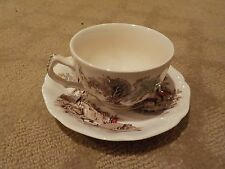 "1 VINTAGE 'THE OLD MILL"" by JOHNSON BROS - ENGLAND TEA / COFFEE CUP & SAUCER"