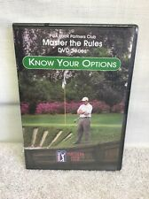 (AJ) PGA TOUR DVD Instructional DVD Master The Rules Know Your Option