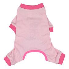 Pink Cotton Apparel Dog Pajamas Pup Shirt Pet Clothes Vest Basic Sleepwear M