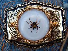 NEU Handarbeit Gold Metall Gürtelschnalle Spiny Spider Western Goth Cowboy Festival