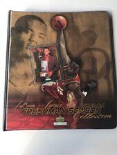 Lebron James 2003-2004 Freshman Season Collection Binder With Cards