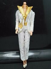 1980 Barbie Designer Originals Fashion #1957 White Gold Jumpsuit + Jacket Outfit