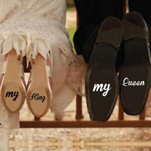 2 Pcs My King My Queen Decals Wedding Accessories Vinyl Art Wedding Stickers