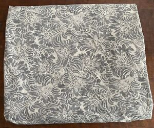 Pottery Barn Mira Gray Damask Twin Duvet Cover Organic Cotton Blend