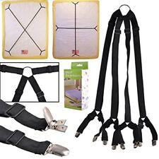 eZAKKA One Set Long Crisscross Adjustable Fitted Bed Matress Sheet Straps
