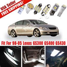 16PCS White LED Lights License Interior Package Kit for 98-05 Lexus GS300 GS430