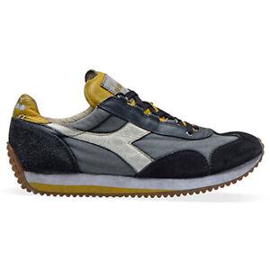 DIADORA HERITAGE Equipe Scarpe da uomo Sneakers casual Stone Wash Evo Blue blu