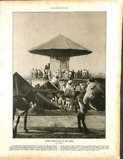 Manège forain le Rif Maroc par Marcelin Flandrin photographe ILLUSTRATION 1926