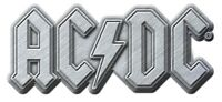 AC/DC METALL PIN # 29 METALLIC LOGO ANSTECKER BADGE BUTTON