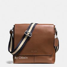 New COACH F72362 Charles Small Messenger Shoulder Crossbody Bag Dark Saddle