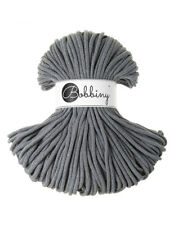 Bobbiny koord color: STEEL / 100% Cotton 5mm Bobbiny Rope 100m Macrame Cord