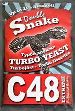 Turbohefe Double Snake C48 Vodka Alkohol Gärhefe Hefe Schnaps Brennhefe 21%