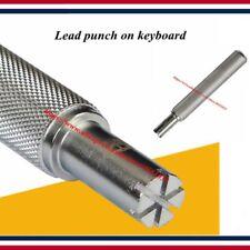 Piano tuning tool key weight key bar lead block installation lead punch
