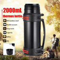 2L Stainless Steel thermos Travel Mug Flask Thermal Hot Water Insulated  |