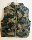 Boys AVALANCHE Camouflage Full Zip Puffer Vest Outerwear Jacket 3T