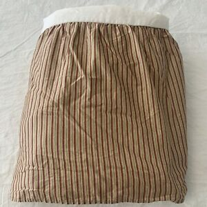 Ralph Lauren Grosvenor Square Striped Ruffled Bedskirt Queen