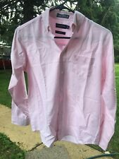 Nautica Oxford Long Sleeve Button Down Pink 70% Cotton Boy's Shirt Size 14