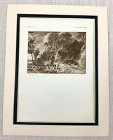 1927 Antico Stampa Olandese Vecchio Master Landscape Pittura Sir Peter Paul