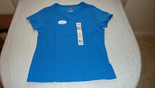 Women's Hanes Live Love Color Jersey Crew Tee Shirt Blue Jay Size Medium NEW