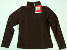 NORTH FACE brown TKA 100 GLACIER womens ¼ ZIP lightweight pullover FLEECE size M