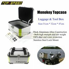 Motorcycle Aluminum Rear Outback Monokey Storage Top Box 46L Luggage Universal