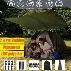 3M Waterproof Tent Cover Hammock Rain Fly Tarp Portable Outdoor Tarp Shelt