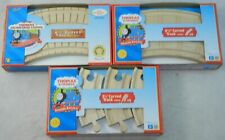 "Lot 3 Thomas Tank Engine Wooden Curved Track 6 1/2"" Clickity Clack 3 1/2""  NEW"